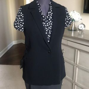 Rachel Roy Black Vest with Side Tie Detailing
